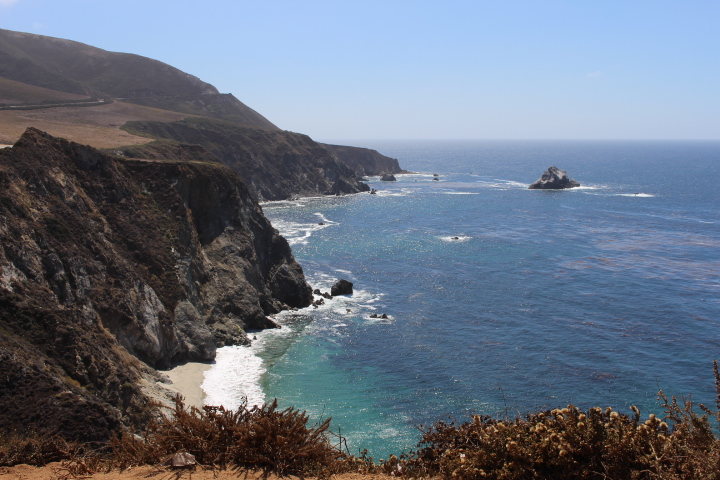 Paradiesische Küsten des Big Sur