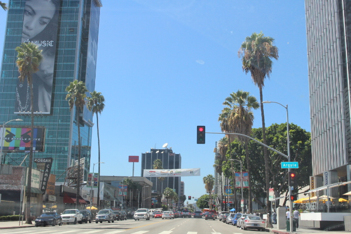 Typischer Straßendunst in L.A.