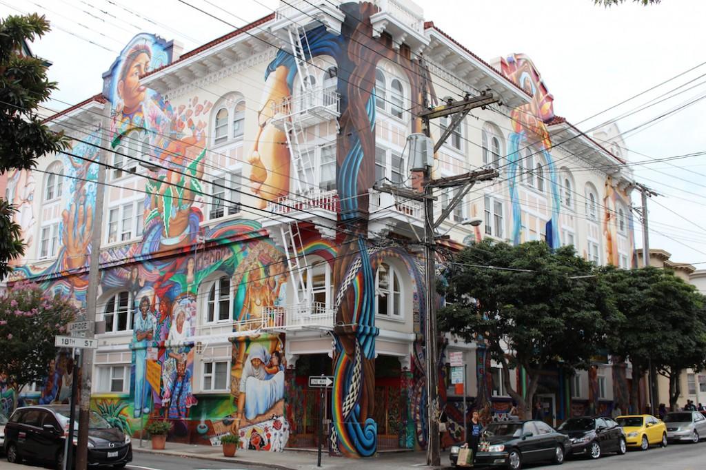 Das bunte Mission District in San Francisco