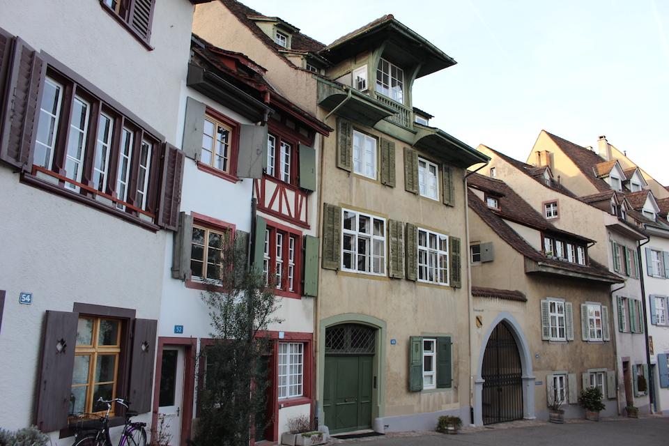Fachwerkhäuser in der Basler Altstadt